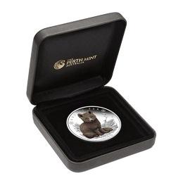 """Серебряная монета Австралии """"Полярная лисица"""" 1/2 унции"""