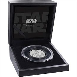 """Серебряная монета """"Звёздные войны: Хан Соло"""" 2 унции"""