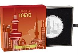 """Серебряная монета """"Великие города: Токио"""" 1 унция"""