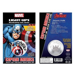 """Памятная монета """"Капитан Америка"""" с подсветкой"""