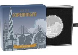 """Серебряная монета """"Великие города: Копенгаген"""" 1 унция"""