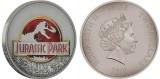 """Серебряная монета """"Парк Юрского периода - 25 лет"""""""