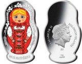 "Серебряная монета Канады ""Матрёшка"" 1 унция"