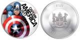 """Памятная чентезимо """"Капитан Америка"""" не без; подсветкой"""