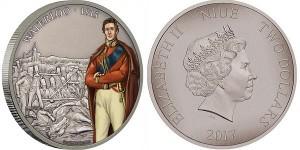 """Серебряная монета """"Битва при Ватерлоо"""" 1 унция"""