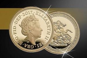В Англии отчеканили золотую монету «Соверен» 2017