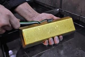 Производство золота в РФ упало в 2016 г. до 288,55 т.